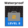 <b>waterproof level 2</b><br />quick submersion resistant