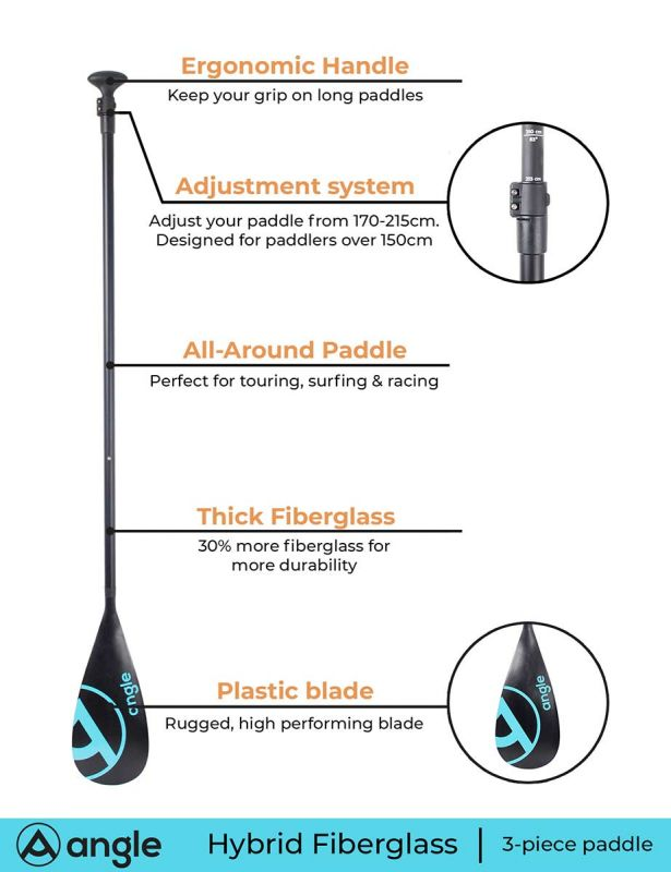 Angle SUP paddle HYBRID6 3pc
