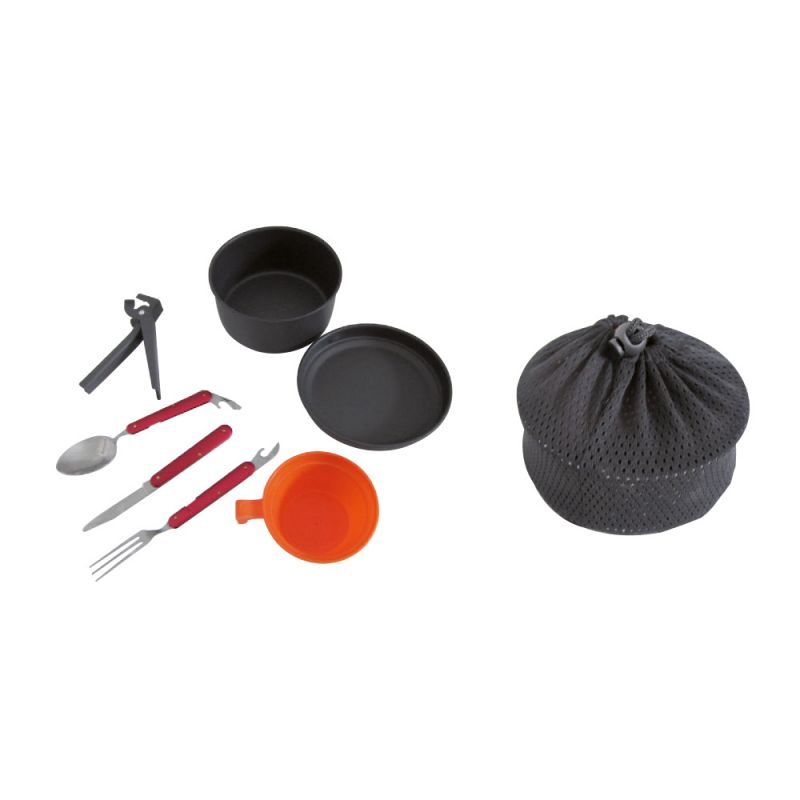 bravo camping cooking set with cutlery scout set brscout