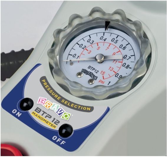 Bravo electric pump BTP 12 Manometer