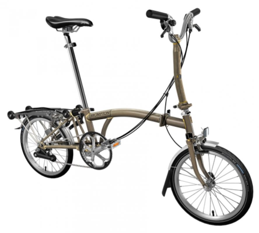 brompton bicycle folding m6r raw lacquer bpraw