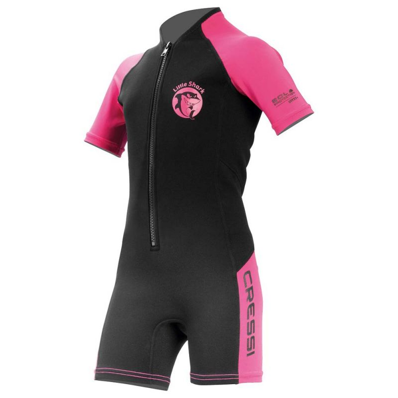 cressi little shark shorty wetsuit 2 mm pink raslsharlpi