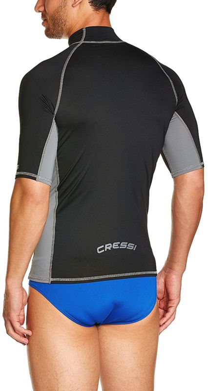 cressi rash guard for men short sleeve rashms