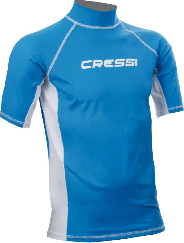 cressi rash guard for men blue short sleeve rashblums
