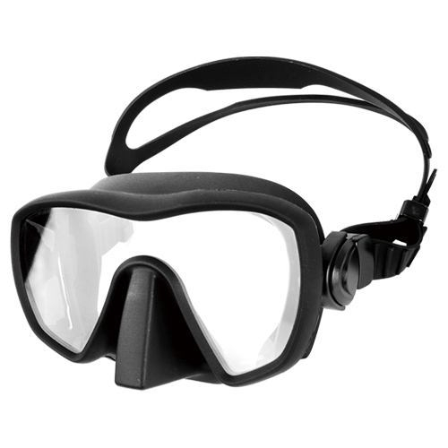frameless silicone diving mask atlas black