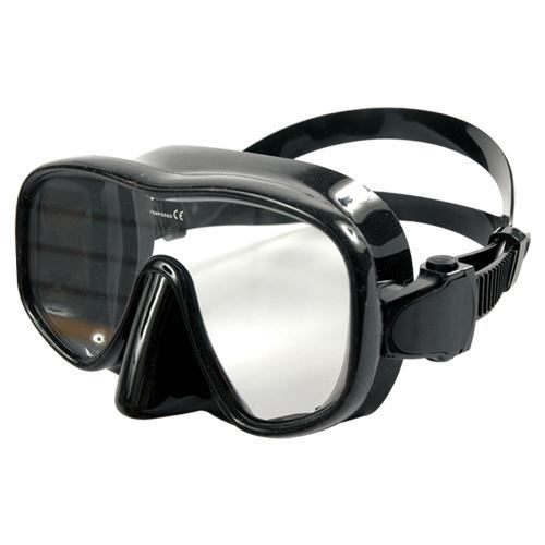 frameless silicone diving mask mica black