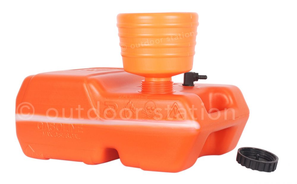 pvc funnel for petrol and fuel 15cm orange