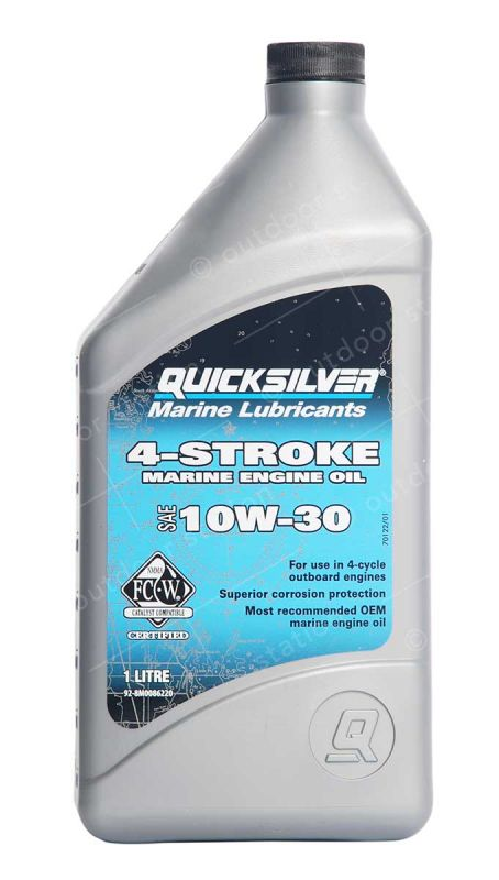 quicksilver 10w30 engine oil for a 4 stroke outboard motor