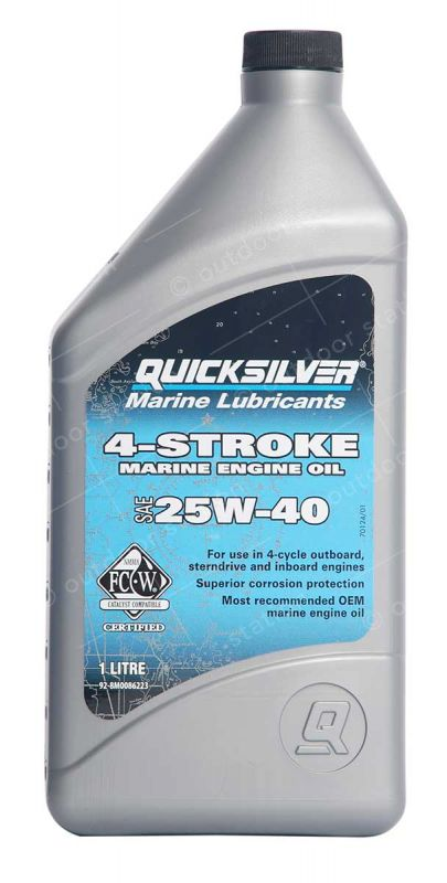 quicksilver 10w30 engine oil for a 4 stroke petrol engines