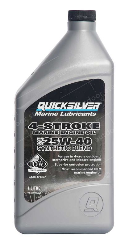 quicksilver 25w40 synthetic engine oil for a 4 stroke engine