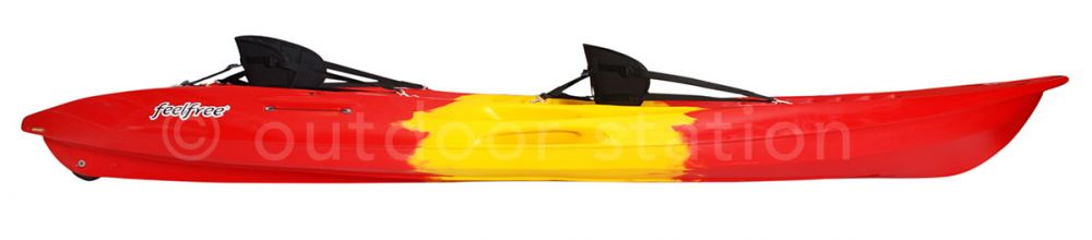 recreational double sit on top kayak feelfree gemini lava