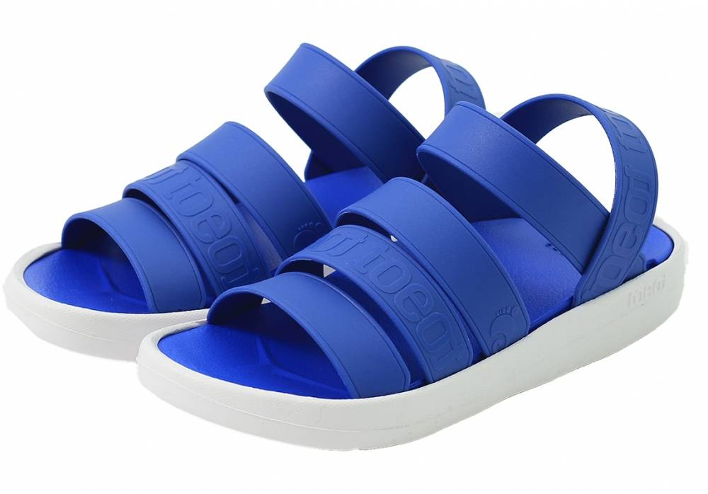 sandals toeot blue white toebluall