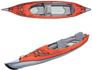 Inflatable kayak AE AdvancedFrame Convertible red