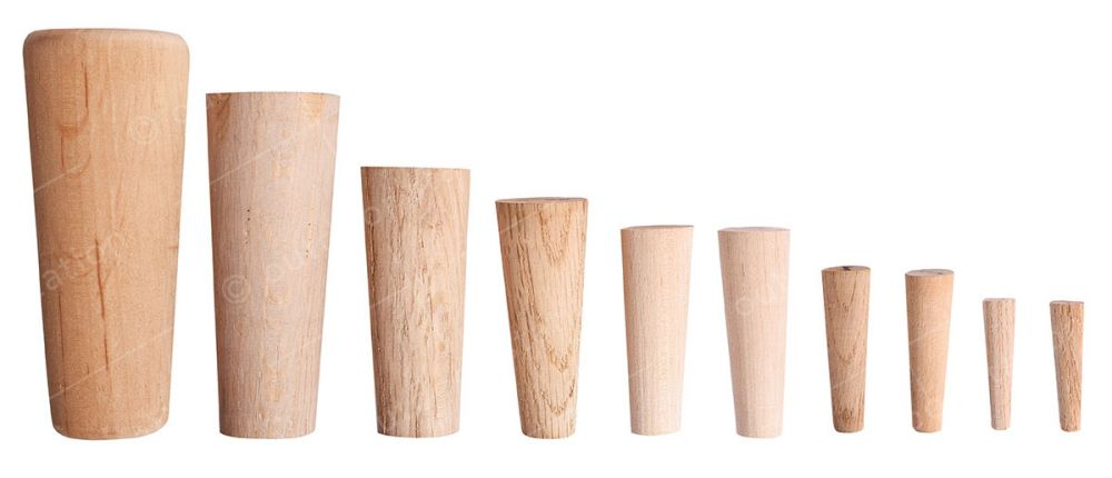 Wooden conical plugs